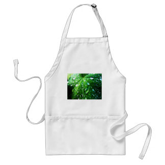 Green nature Leafs natural Water drop Clear Crysta Adult Apron