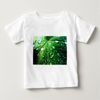 Green nature Leafs natural Water drop Clear Crysta Baby T-Shirt