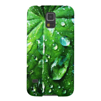 Green nature Leafs natural Water drop Clear Crysta Galaxy S5 Cover