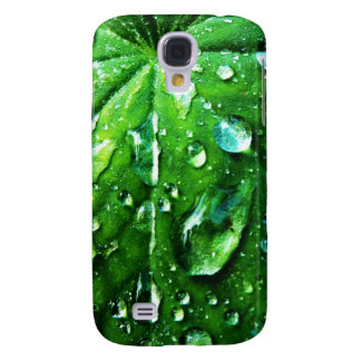 Green nature Leafs natural Water drop Clear Crysta Samsung Galaxy S4 Case