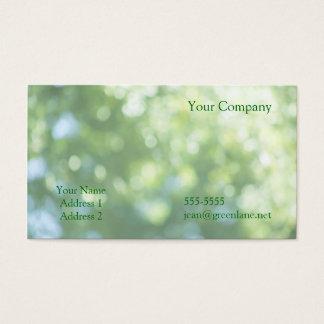 green nature soft focus business card
