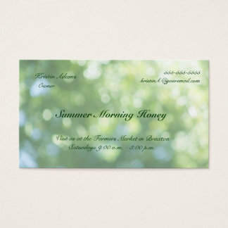 green nature soft focus fade business card