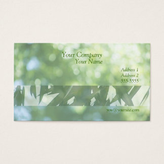 green nature soft focus with leaves business card