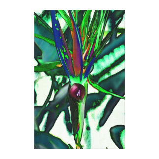 Green nature stretched canvas prints