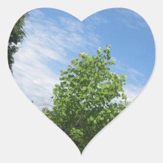 GREEN nature tree skyline NewJersey USA NVN675  GI Heart Stickers