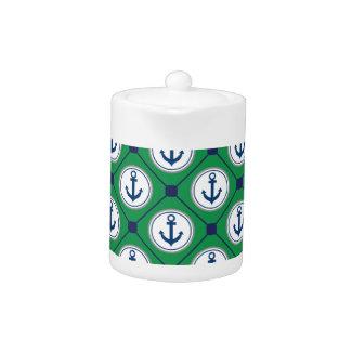 Green Nautical Anchor Pattern