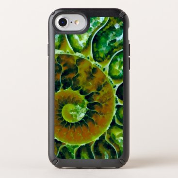 Beach Themed Green Nautilus Art Speck iPhone Case