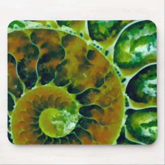 Green Nautilus Mouse Pad