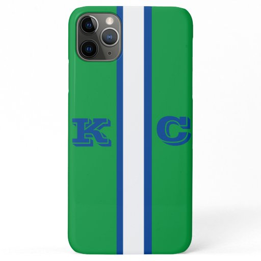Green, Navy & White Sleek Phone Cover