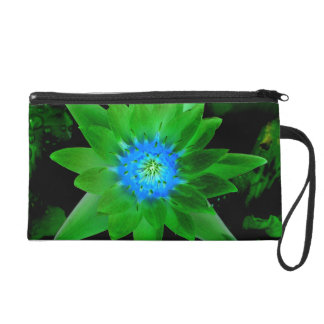 green neat water lily flower against green leaves wristlets