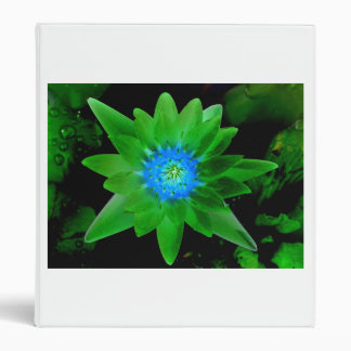green neat water lily flower against green leaves vinyl binder