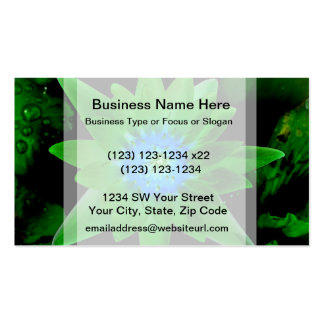 green neat water lily flower against green leaves Double-Sided standard business cards (Pack of 100)