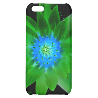 green neat water lily flower against green leaves iPhone 5C case