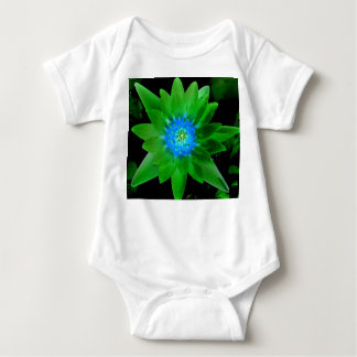 green neat water lily flower against green leaves t-shirt