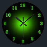"Green Neon 10.75&quot; Large Clock<br><div class=""desc"">Neon Wall Clock</div>"