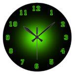 "Green Neon 10.75"" Round Wall Clock"