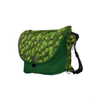 Green Neon Cubes Courier Bag