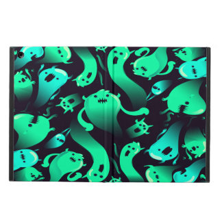 Green Neon Ghost Pattern Case For iPad Air