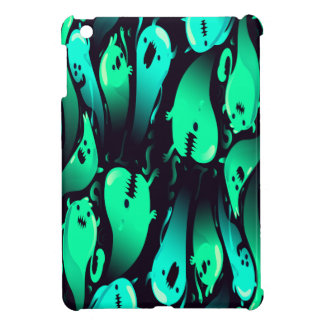 Green Neon Ghost Pattern Case For The iPad Mini