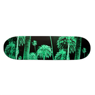 Green Neon glow Palm Trees Skate board deck skate