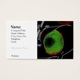 Green Neon Light Business Card Template