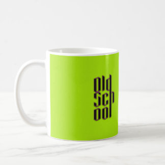 Green Neon Old School Coffee Mug