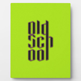 Green Neon Old School Photo Plaques