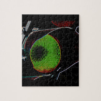 Green Neon Traffic Light Puzzle