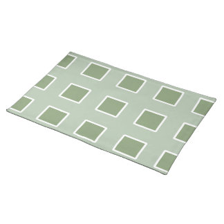 Green Net Design on Cotton Placemat