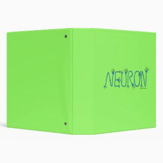 Green Neuron Binder with 1.5' binder rings