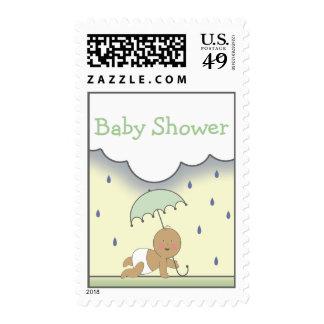 Green Neutral Baby Shower Postage