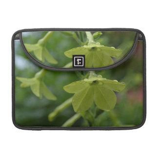 Green Nicotiana Flowers MacBook Pro Sleeves