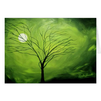 """Green Night"" by Linda Powell~Original Photo Card"