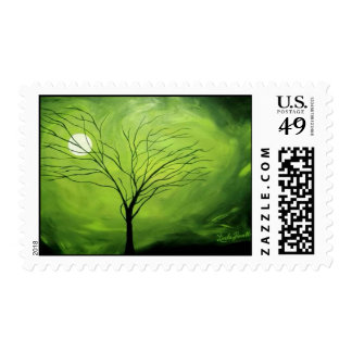 """Green Night"" by Linda Powell~Original Postage"