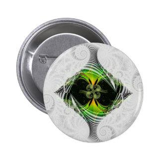 Green Nirvana Pinback Buttons
