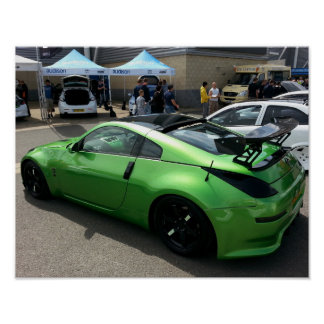 Green Nissan 350Z at Modified Nationals 2015. Poster