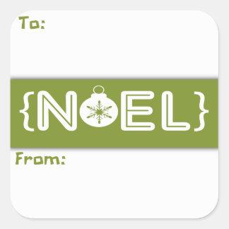 Green Noel Christmas Ornament Gift Sticker