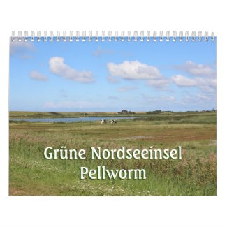 Green North Sea Island Pellworm Calendar