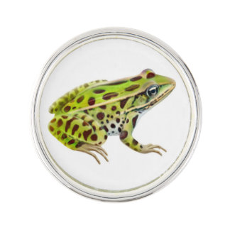 Green Northern Leopard Frog Lapel Pin