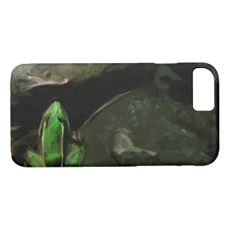 Green Northern Leopard Frog on Rocks Abstract iPhone 8/7 Case