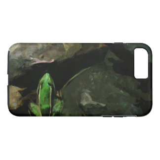 Green Northern Leopard Frog on Rocks Abstract iPhone 8 Plus/7 Plus Case