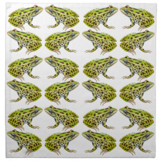 Green Northern Leopard Frogs Napkin