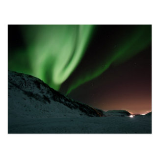 Green Northern Lights Aurora Borealis Norway Postcard