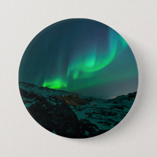 Green Northern Lights Button