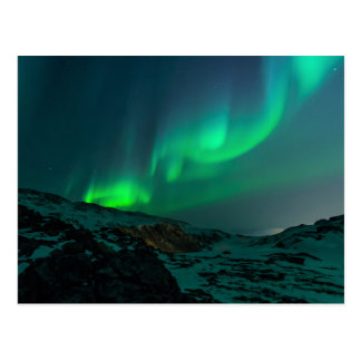 Green Northern Lights Postcard