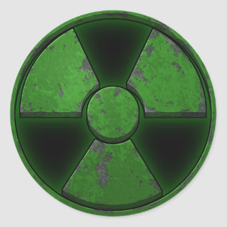 Green Nuke Classic Round Sticker