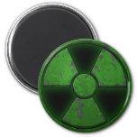 Green Nuke Fridge Magnets