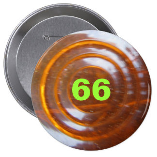 Green Number Template 4 Inch Round Button