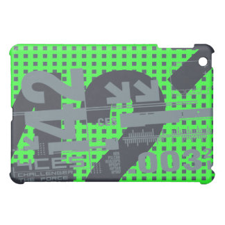 Green Numbers Graphic iPad Mini Case