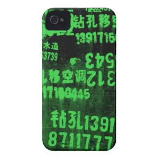 green numbers iPhone 4 case